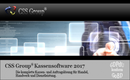 CSS Group® Kassensoftware 2017 - Bürosoftware Auftrag PLUS
